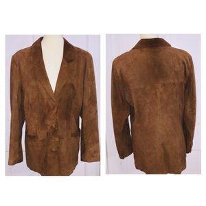 Vintage Soft Suede Brown Jacket. Size Large